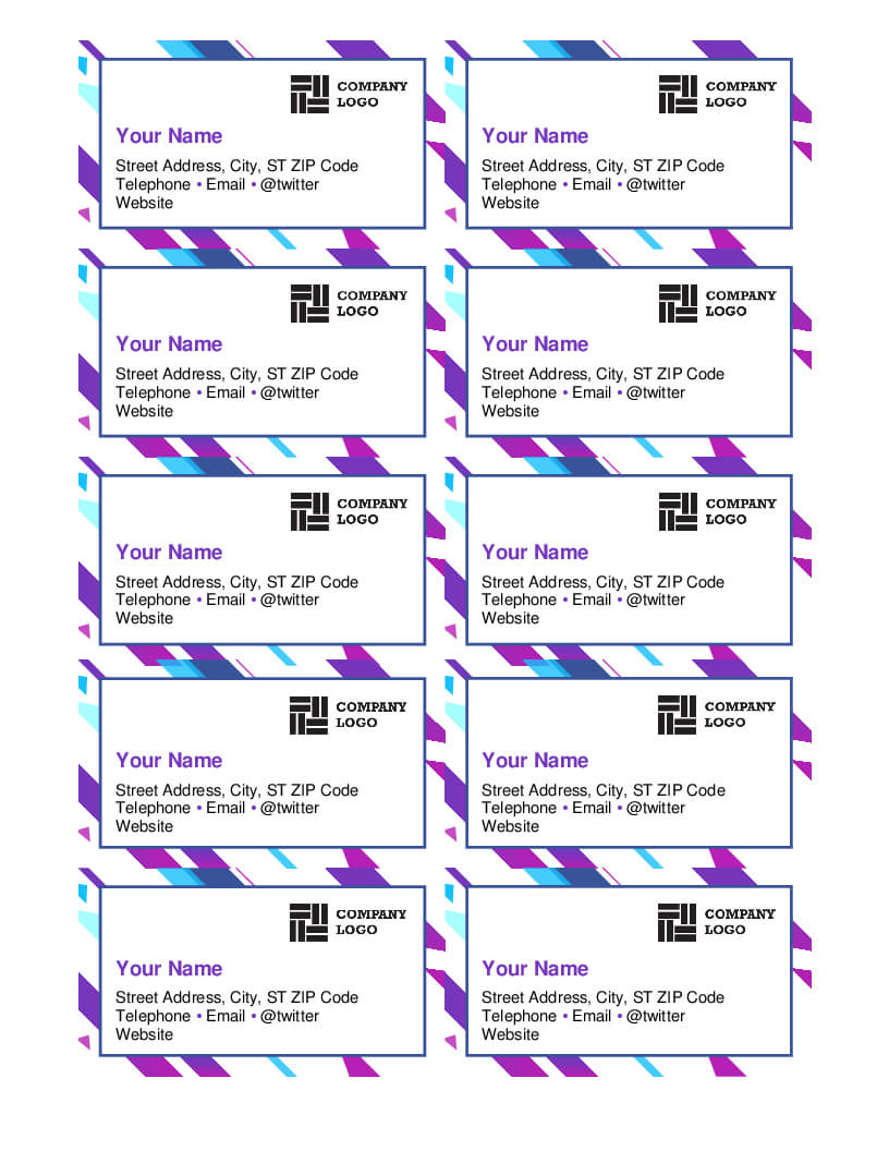 Business Cards - Office For Microsoft Office Business Card Template