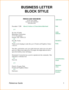 Business Letter Block Style Letters Format Download Free pertaining to Modified Block Letter Template Word