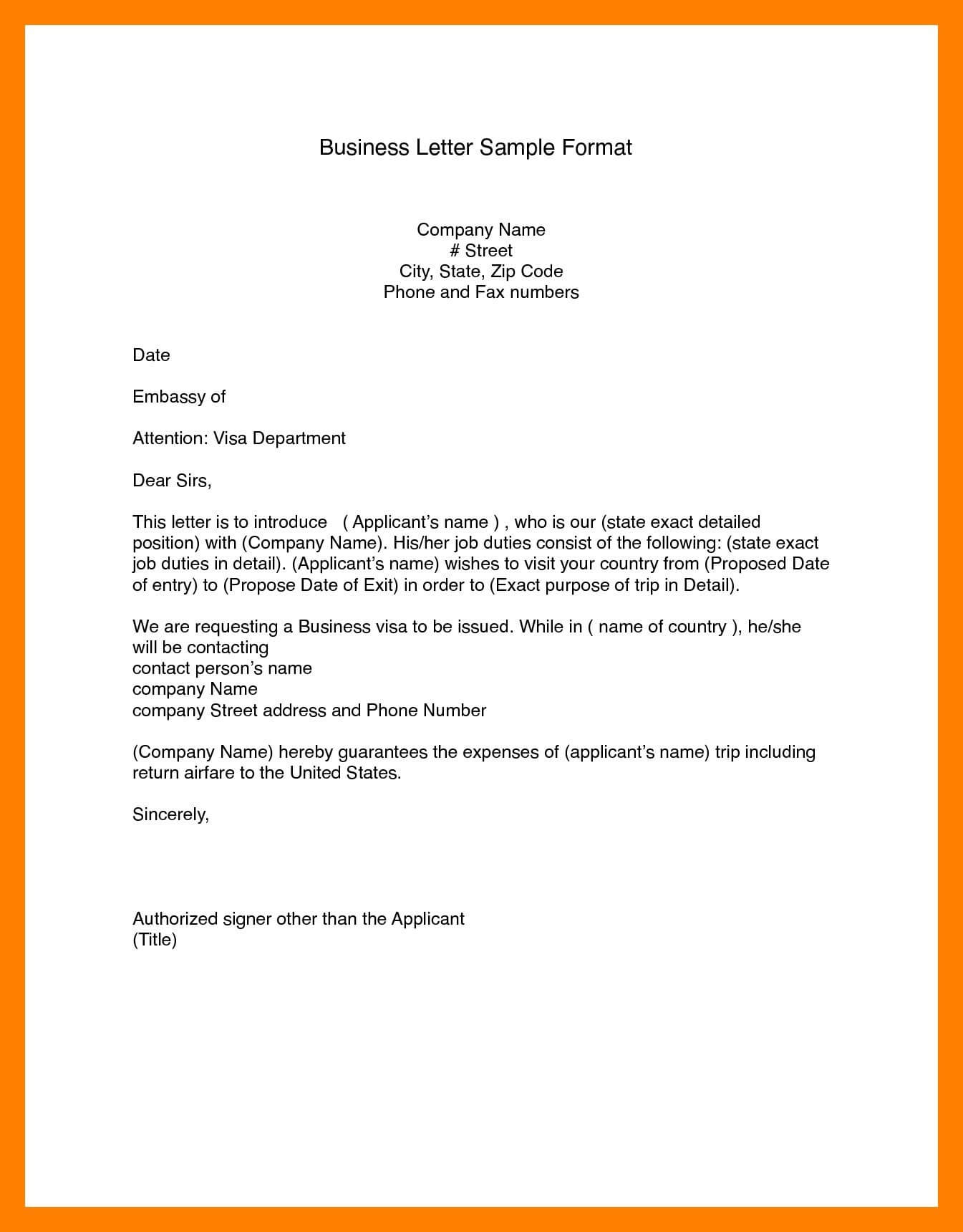 Business Letter Modified Block Format (6) | Manager Resume For Modified Block Letter Template Word