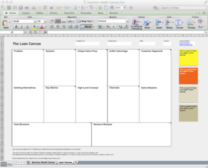 Business Model Canvas And Lean Canvas Templates. | Neos Chonos within Lean Canvas Word Template