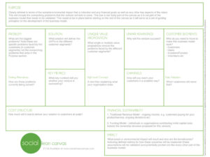Business Model Canvas Template: Intro To The Social Lean Canvas intended for Lean Canvas Word Template