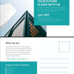 Business Postcards Templates Free Moving Best Professional With Free Moving House Cards Templates