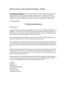Business Reference Letter Template Word Collection | Letter with regard to Business Reference Template Word