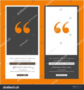 Business Seminar Invitation Design Template Time Stock throughout Seminar Invitation Card Template