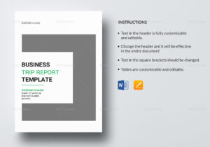 Business Trip Report Template for Business Trip Report Template