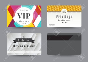 Business Vip Member Cards Design Template. Vector Illustration. pertaining to Template For Membership Cards