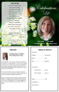 Butterfly Memorial Program | Memorials | Funeral Program inside Remembrance Cards Template Free