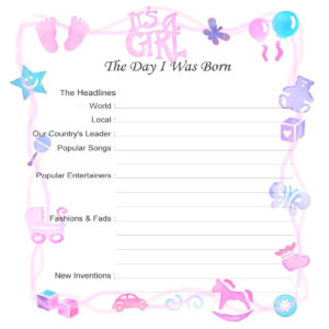 Cabbage Patch Kid Birth Certificate Template As Well With pertaining to Baby Doll Birth Certificate Template