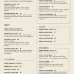Cafe Menu Template Word Free (10) | Budget Spreadsheet in Free Cafe Menu Templates For Word