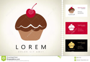 Cake Logo Stock Vector. Illustration Of Menu, Restaurant for Cake Business Cards Templates Free