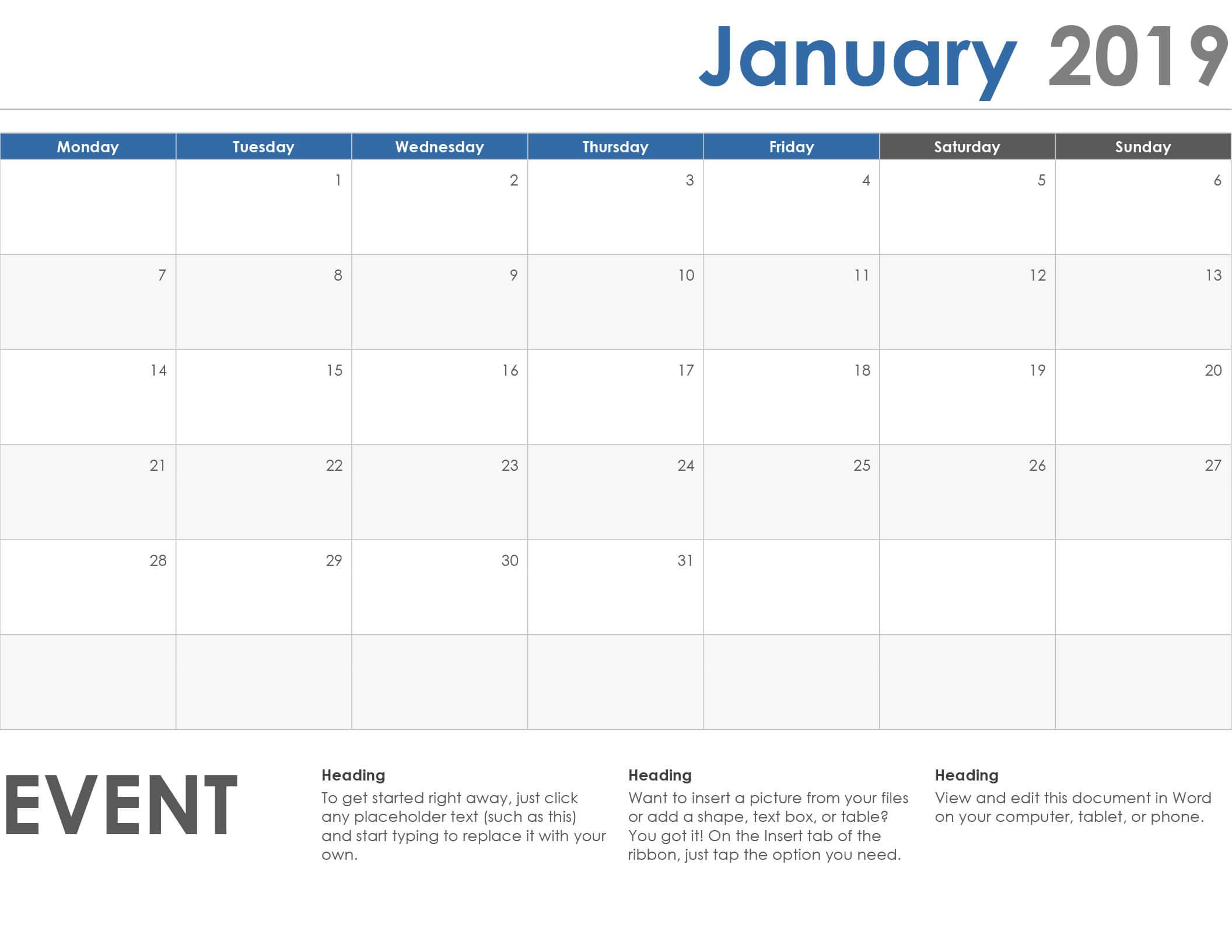 Calendars - Office Regarding Microsoft Powerpoint Calendar Template