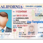 California Driver License Template. Open California Psd File Throughout Blank Drivers License Template