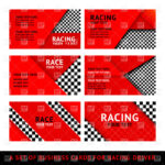 Calling Card Red Template For Driver With Chequered Elements Stock Vector  Image With Regard To Template For Calling Card