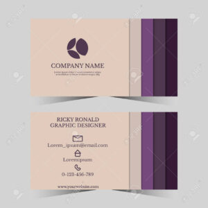 Calling Card Template For Business Man With Geometric Design throughout Template For Calling Card