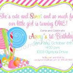 Candyland Invitations Printable   Candyland Lollipop Regarding Blank Candyland Template