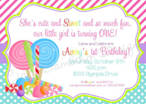 Candyland Invitations Printable | Candyland Lollipop regarding Blank Candyland Template