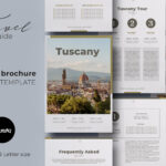 Canva Ebook / Brochure Travel Guide Template Intended For Travel Guide Brochure Template