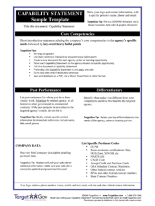 Capability Statementpdffillercom – Fill Online, Printable pertaining to Capability Statement Template Word