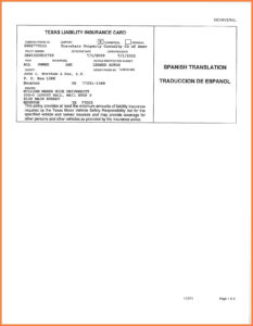 Car Insurance Card Template Free Auto Insurance Card with regard to Texas Id Card Template