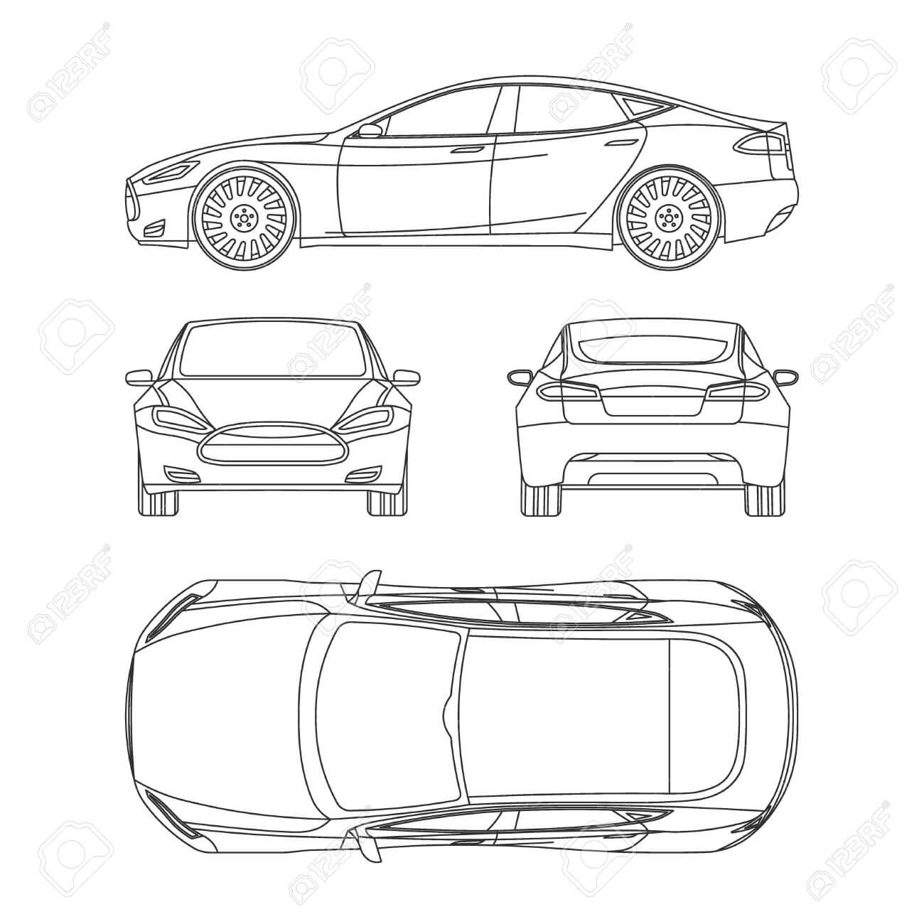 Car Line Draw Insurance, Rent Damage, Condition Report Form Blueprint For Car Damage Report Template