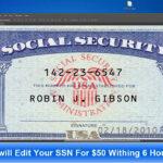Card Template Psd Regarding Social Security Card Template Photoshop