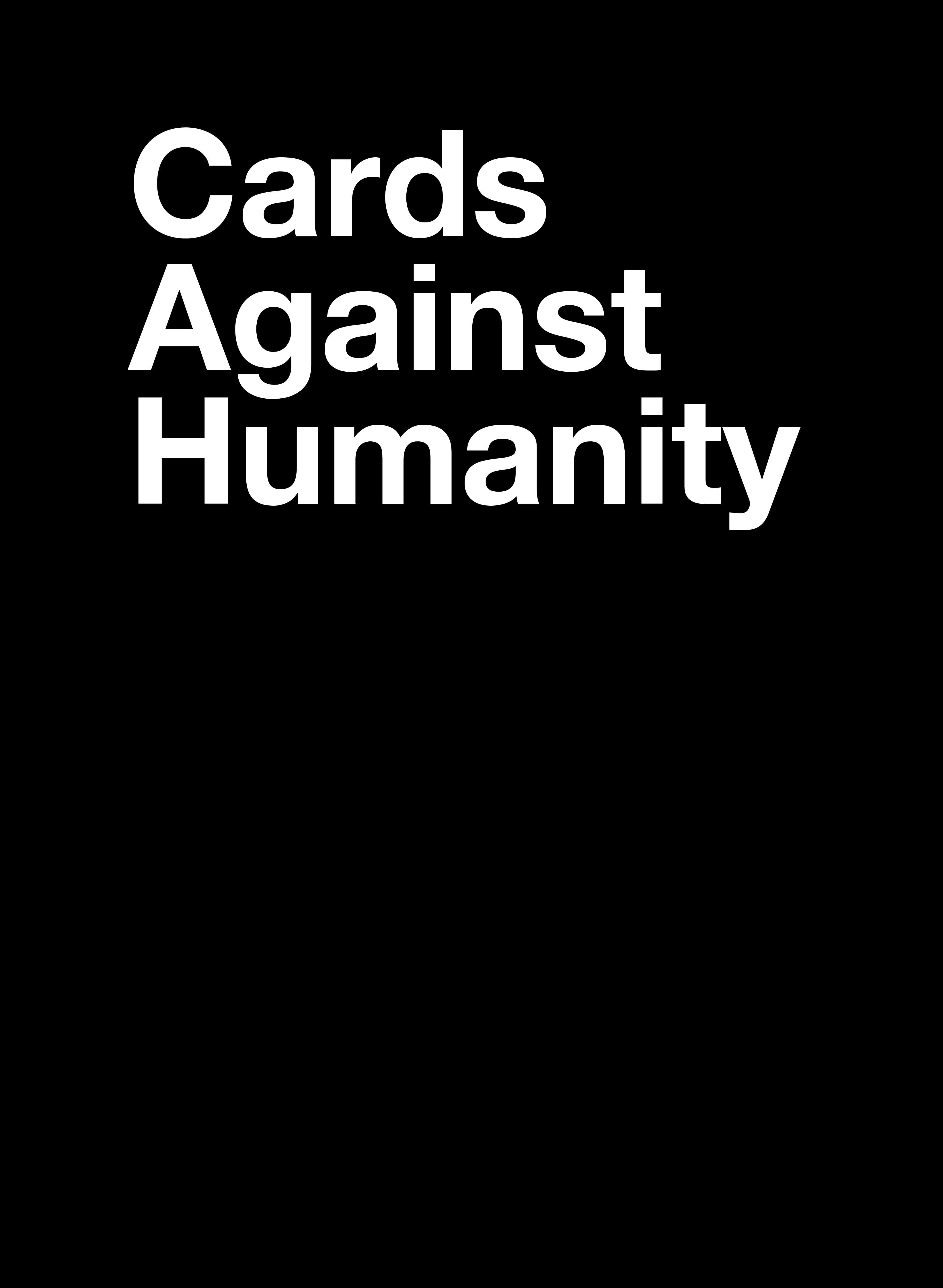 Cards Against Humanity - Card Generator Inside Cards Against Humanity Template