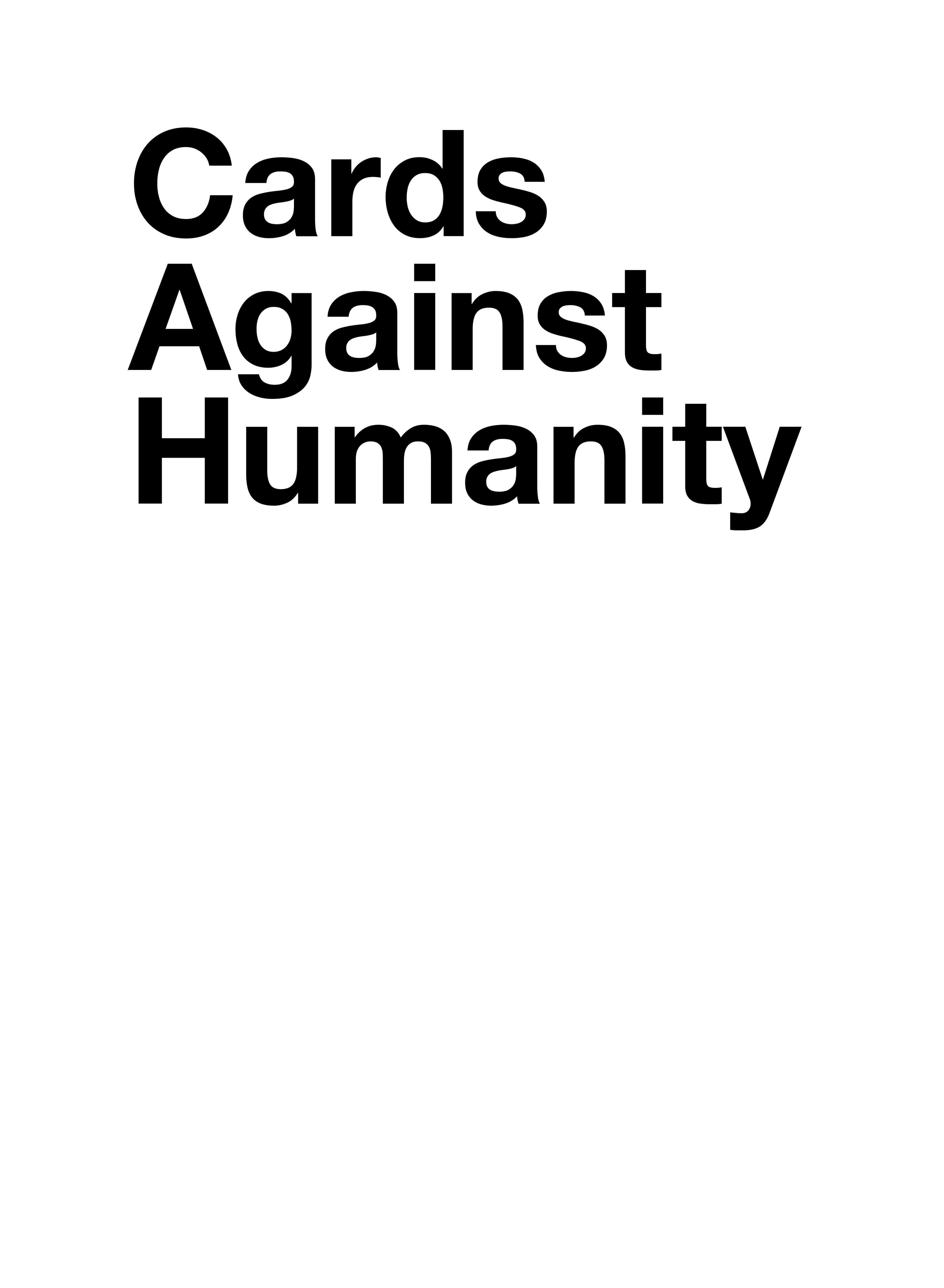 Cards Against Humanity - Card Generator Regarding Cards Against Humanity Template