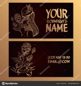 Cards Image Woman Rose Templates Creating Business Cards regarding Advertising Cards Templates