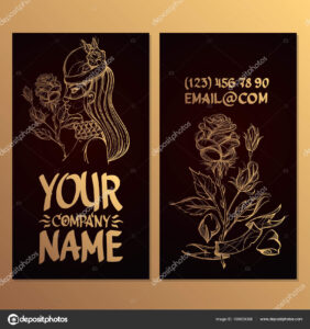Cards Image Woman Rose Templates Creating Business Cards throughout Advertising Cards Templates