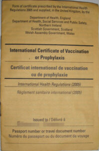 Carte Jaune – Wikipedia for Certificate Of Vaccination Template