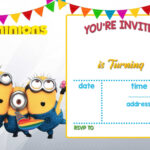 Cartoon Invitation Ppt Template   Printable Templates Within Minion Card Template