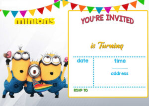 Cartoon Invitation Ppt Template | Printable Templates within Minion Card Template