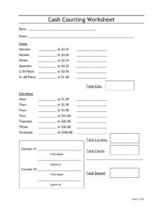 Cash Count Sheet Template   Balance Sheet   Balance Sheet throughout End Of Day Cash Register Report Template