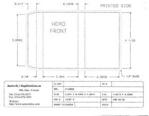 Cassette Insert Print Specs in Cassette J Card Template