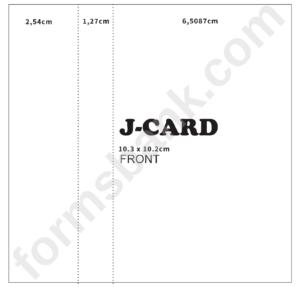 Cassette J-Card Template Front Printable Pdf Download regarding Cassette J Card Template