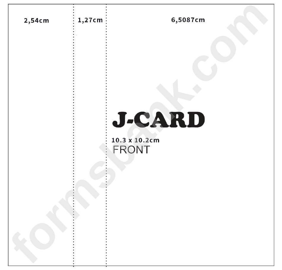 Cassette J Card Template Front Printable Pdf Download Regarding Cassette J Card Template