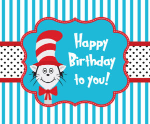 Cat In The Hat Greeting Card Template Vector Art & Graphics For Dr Seuss Birthday Card Template