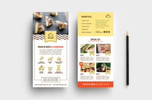 Catering Service Dl Card Template – Psd, Ai & Vector within Dl Card Template