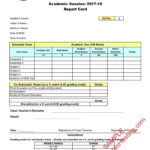 Cbse Report Card Sample Of Class 9Th & 10Th | New Format 2017 18 Pertaining To Result Card Template