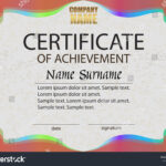 Certificate Achievement Reward Winning Competition Award Inside Certificate Of Attainment Template