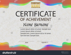 Certificate Achievement Reward Winning Competition Award inside Certificate Of Attainment Template