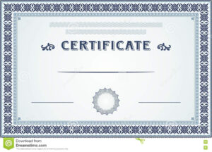 Certificate Border And Template Design Stock Vector within Certificate Border Design Templates