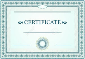 Certificate Borders, Template And Design Elements inside Certificate Border Design Templates