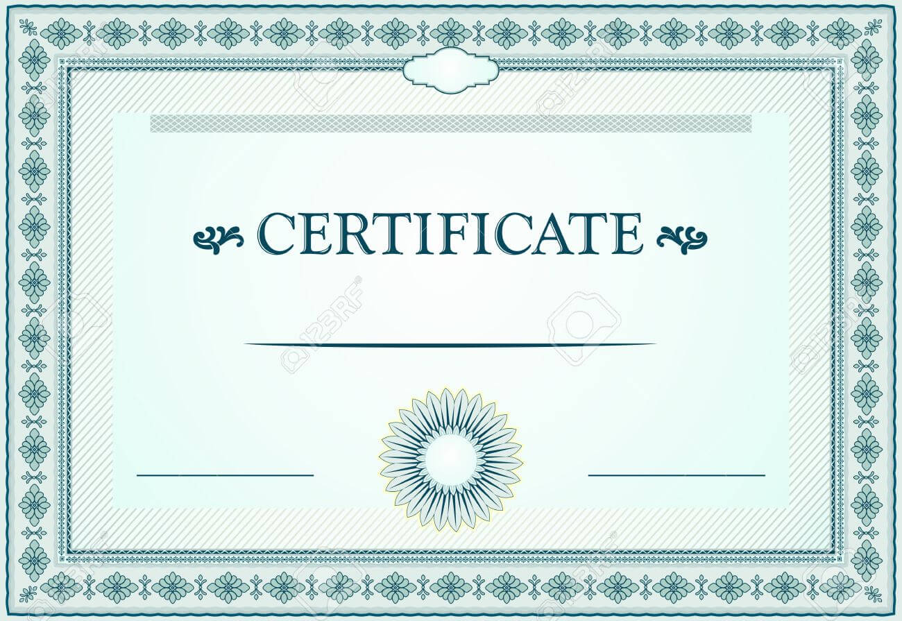 Certificate Border Template | Certificate Borders Template And Design Elements Inside
