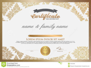 Certificate Design Template. Stock Vector – Illustration Of with regard to Design A Certificate Template