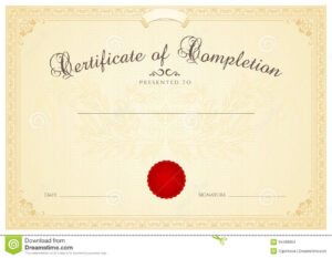 Certificate / Diploma Background Template. Floral Stock intended for Certificate Scroll Template