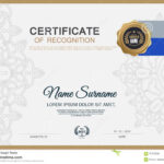 Certificate Frame Design Template Layout Template In A4 Size Regarding Certificate Template Size