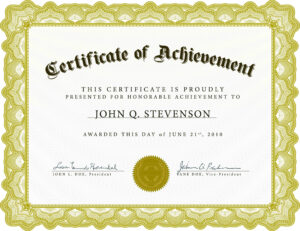 Certificate Of Academic Achievement Template | Photo Stock for Certificate Of Accomplishment Template Free