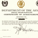 Certificate Of Achievement Army Template – Bizoptimizer Regarding Certificate Of Achievement Army Template