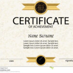 Certificate Of Achievement Or Diploma Template. Vector Stock Inside Certificate Of Attainment Template